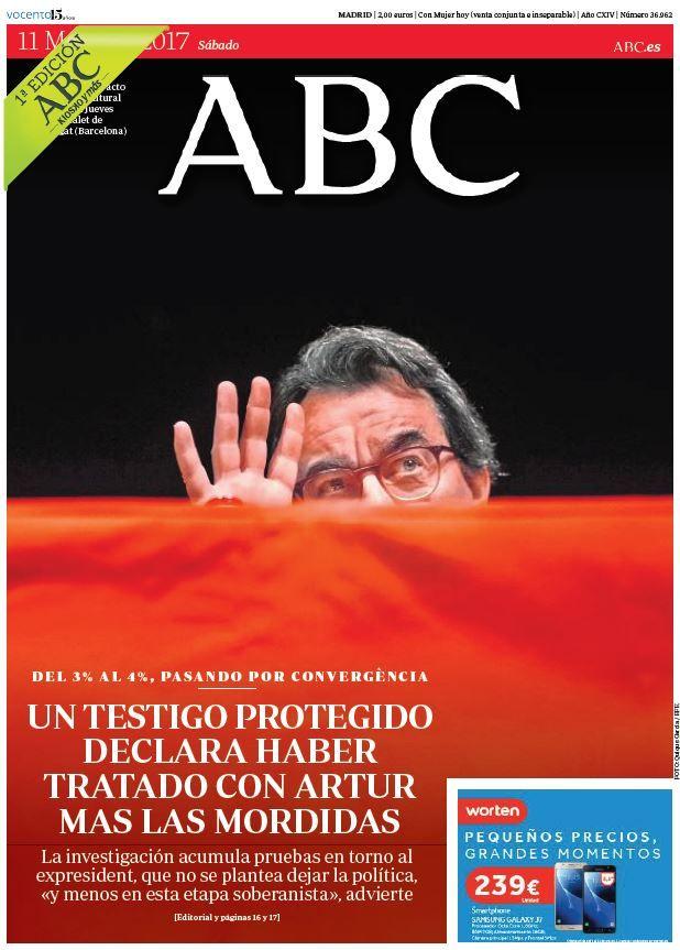 La Portada de ABC del sábado 11 de marzo