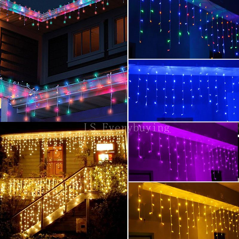 String lights christmas outdoor decoration indoor 3 5m droop 0 4 0 6m curtain icicle led
