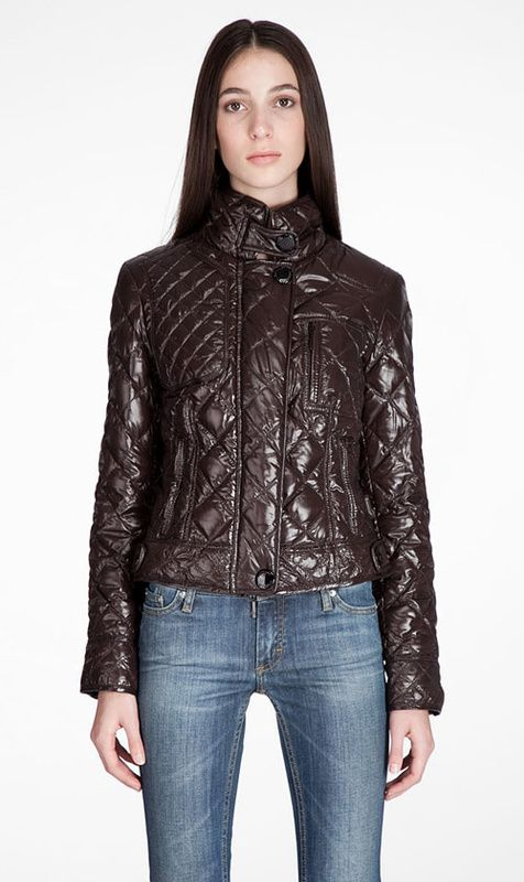 Moncler Bayonne Down Jacket Women Long Sleeve Brown [2899963] - £145.79 : 5