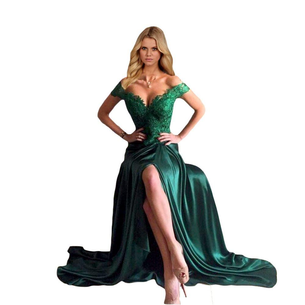 Modelo de vestidos en verde jade