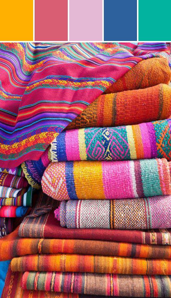 086ee5387 Mexican Folklorica Color System | paleta de colores | Telas ...