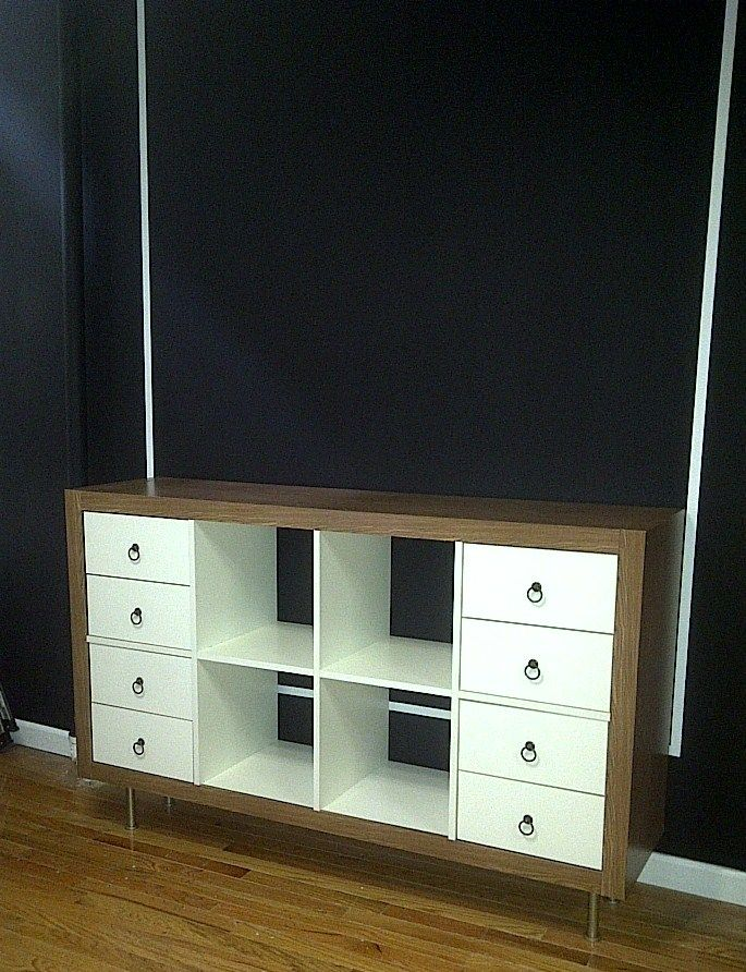 IKEA Hackers: Updated Expedit Dresser. Love the wood grain with ...