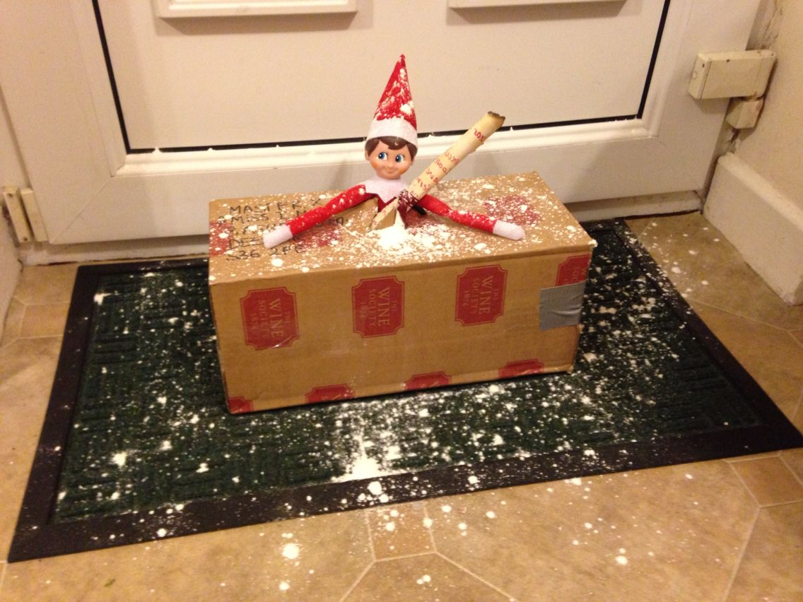 Elf on the shelf arrival elf on the shelf ideas pinterest