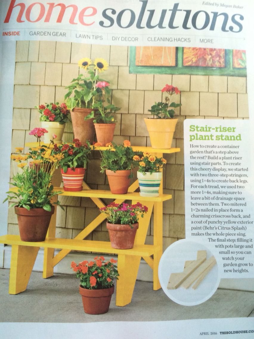 Great for deck Diy plant stand, Plant stand indoor