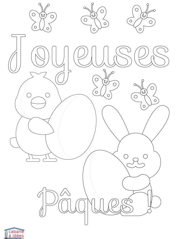 Coloriage Joyeuses Paques Maternelle.Coloriage Joyeuses Paques Arts Primaire Coloriages Coloriage