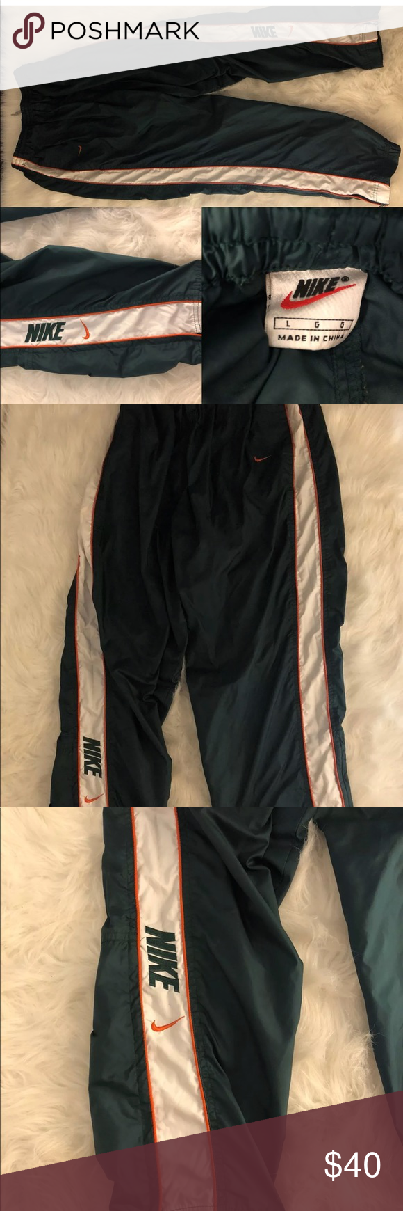 692d167d9 Vintage Nike Pants Windbreakers Sweatpants Large Vintage Nike Track Pants  Windbreakers Sweatpants Lined Swoosh Retro 90's
