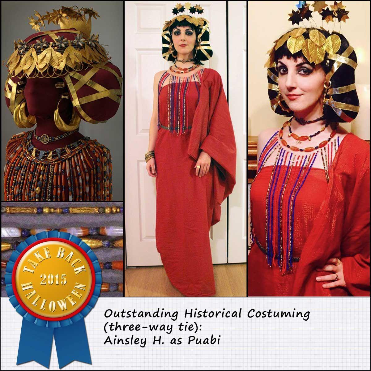 Queen Puabi Headdress Costume Idea | Costume contest ...