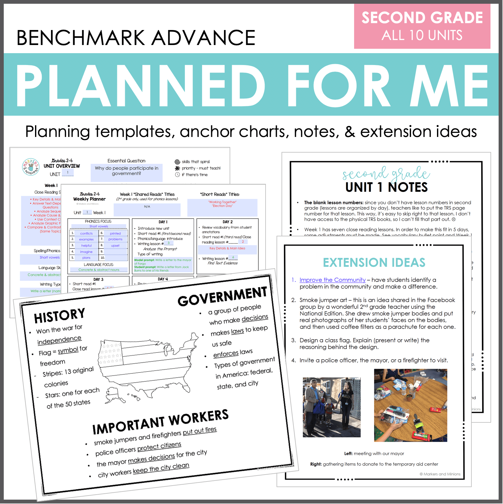 Photo of Planned for Me: Second Grade (Benchmark Advance) – Markers and Minions