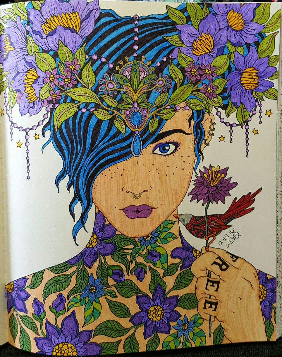 repost from hanna karlzon s summer nights colouring book used