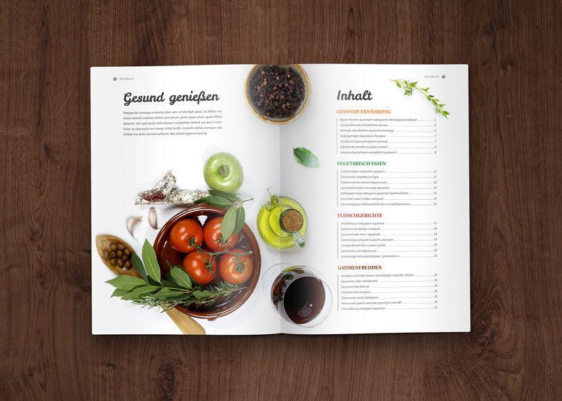 Kochbuch Und Rezeptbuch Vorlage Designs Layouts Fur Indesign Kochbuch Design Kochbuch Kochbuch Design Vorlage