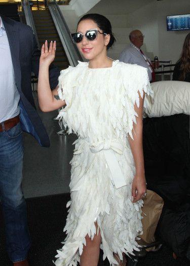 3297fc73e3 Lady Gaga wearing Fendi Sunglasses