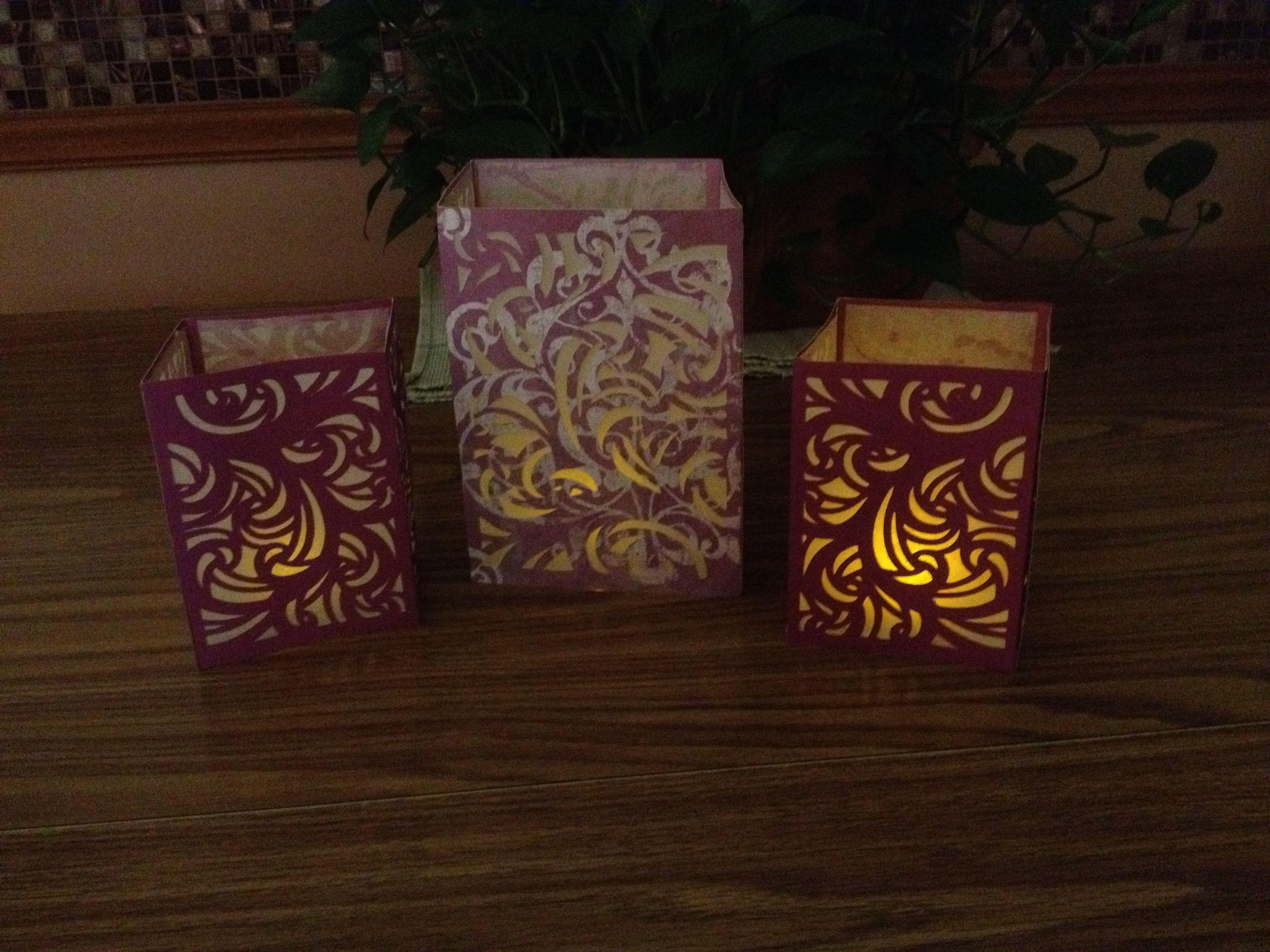 Cricut Craft Room 3D Lanterns Use tracing paper instead of vellum