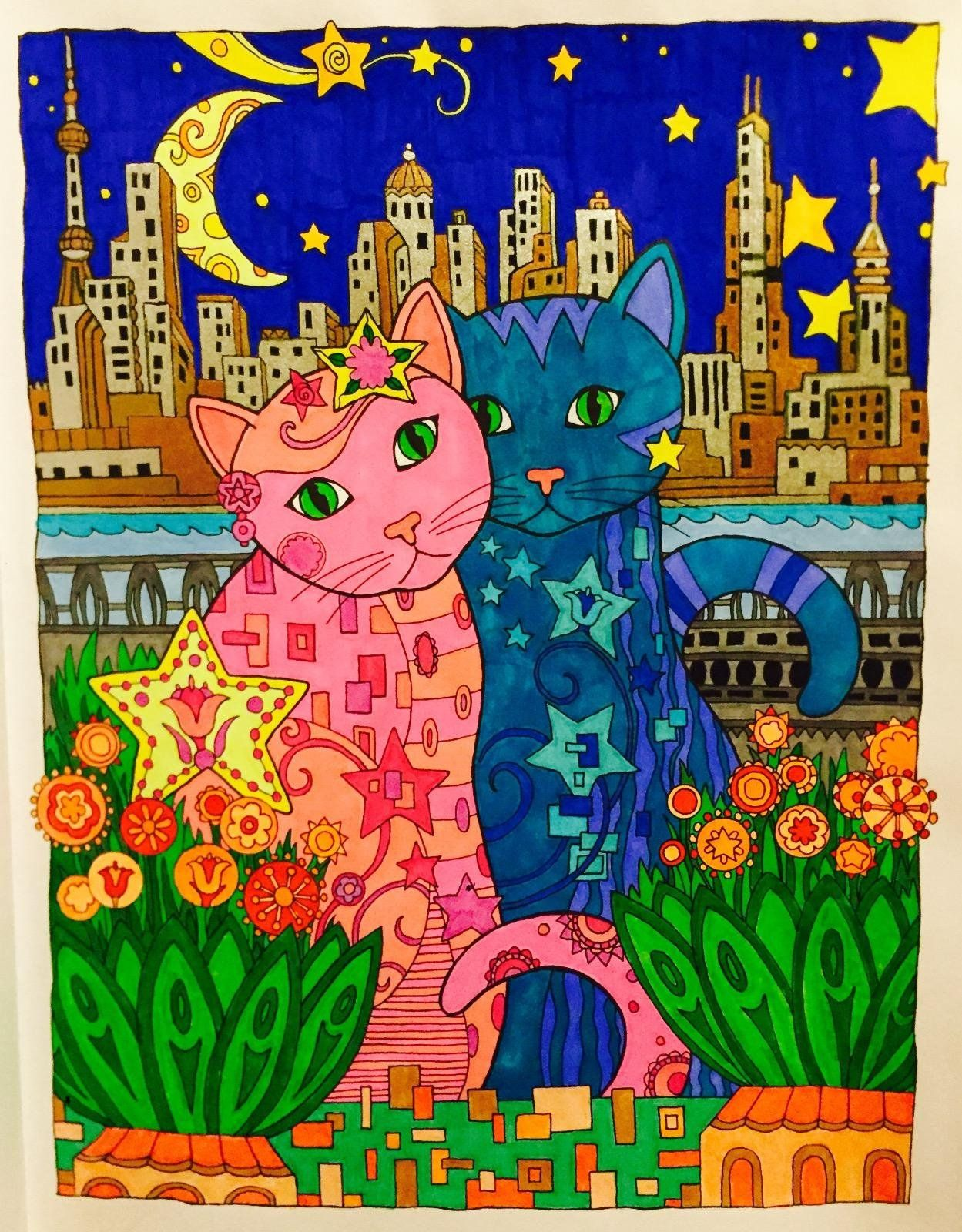 Five Stars By Kitty On Jan 25 2016 Amazon Creative Haven Colouring TechniquesColoring BooksAdult ColoringCat