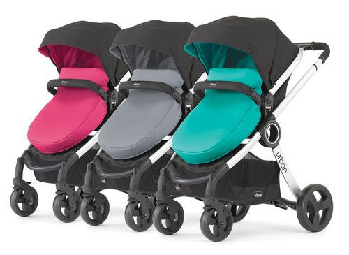 Chicco Urban 6 In 1 Modular Teal Hot Pink Single Baby Stroller