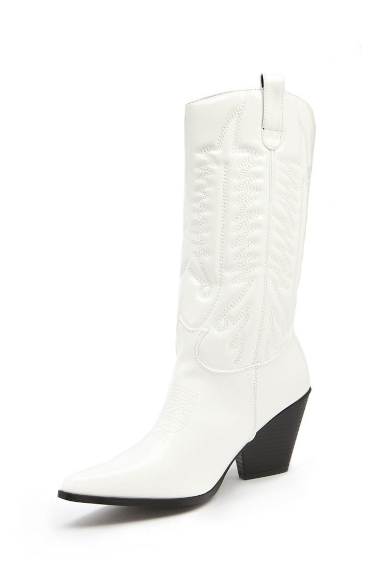 forever 21 white cowboy boots \u003e Up to