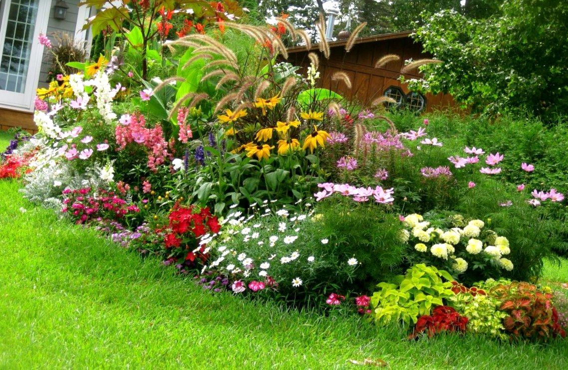 South florida landscaping ideas landscape ideas south for Flower garden landscape
