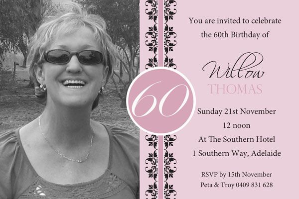 Get 60th birthday invites free printable invitation templates get 60th birthday invites stopboris Choice Image