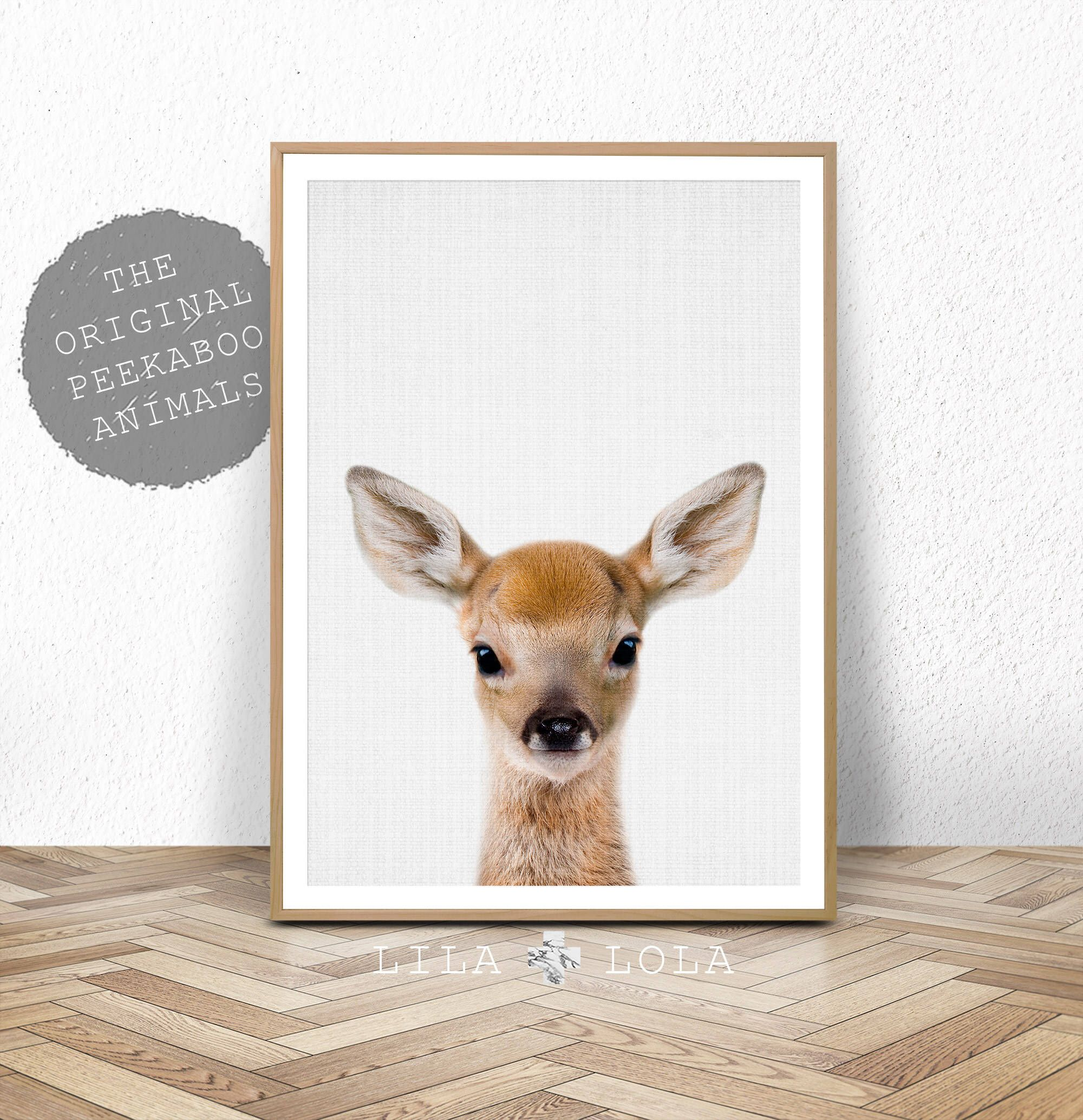 Woodland Animals, Deer Print, Nursery Wall Art Decor, Baby Shower ...
