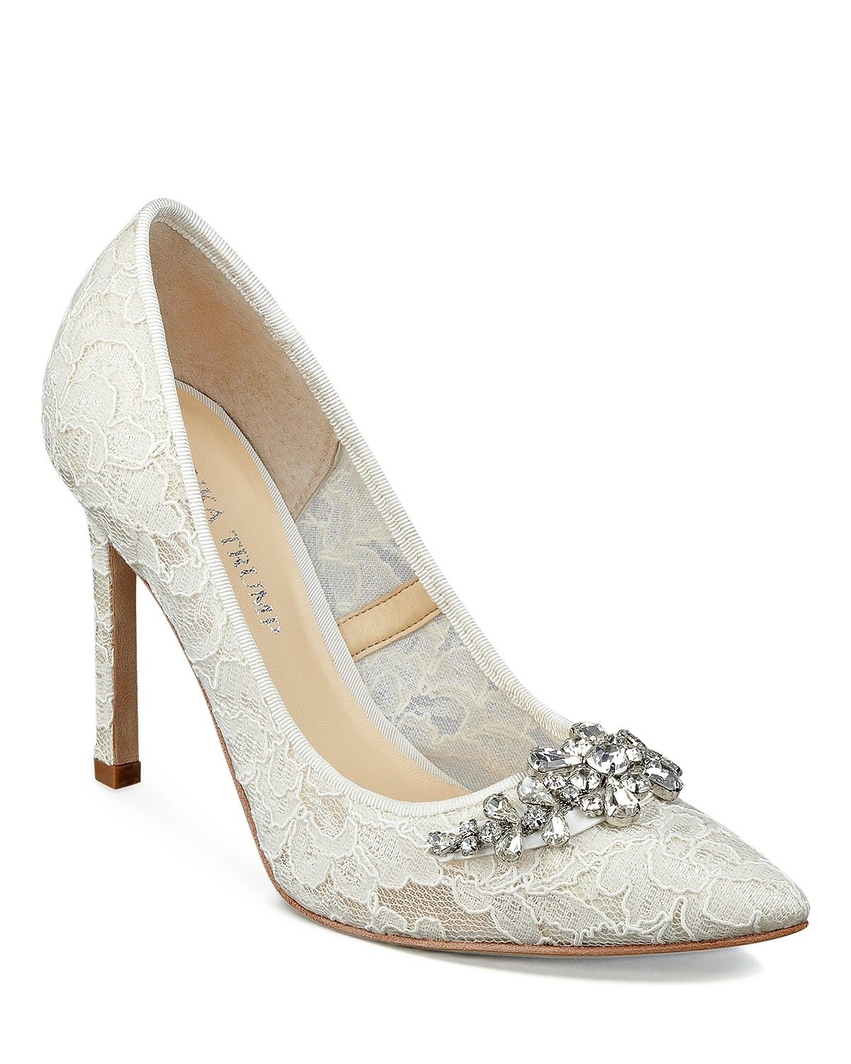 Ivanka Trump Camara Jeweled Pointed Pumps Shoes Evening Wedding Bloomingdale S Pointed Pumps Jewelled Pumps Pumps