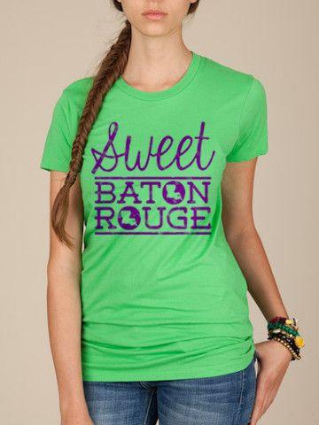 Sweet Baton Rouge   Hometown T Shirts   Shop Football Tees