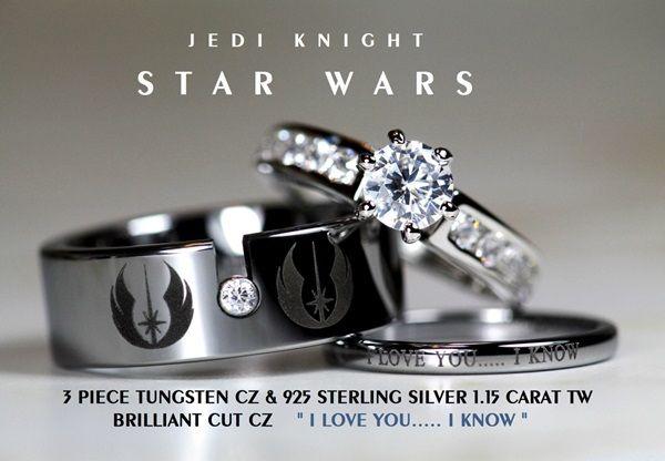 Affordable Wedding Band Sets For Em Star Wars Em Em Zelda Em And Em Batman Em Fans Star Wars Ring Star Wars Wedding Ring Star Wars Jewelry