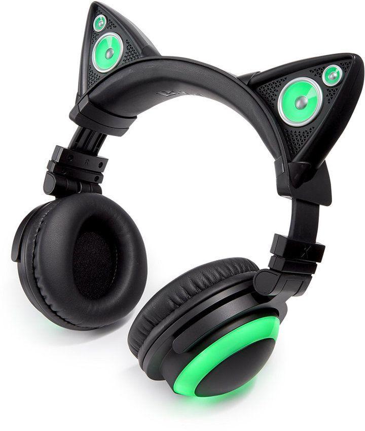 6bf69b103a1 Brookstone Bluetooth Cat Ears Headphones   Products   Headphones ...