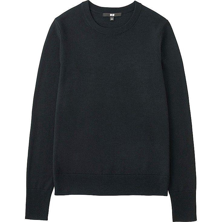 WOMEN Extra Fine Merino Crew Neck Sweater 29.90 € från Uniqlo