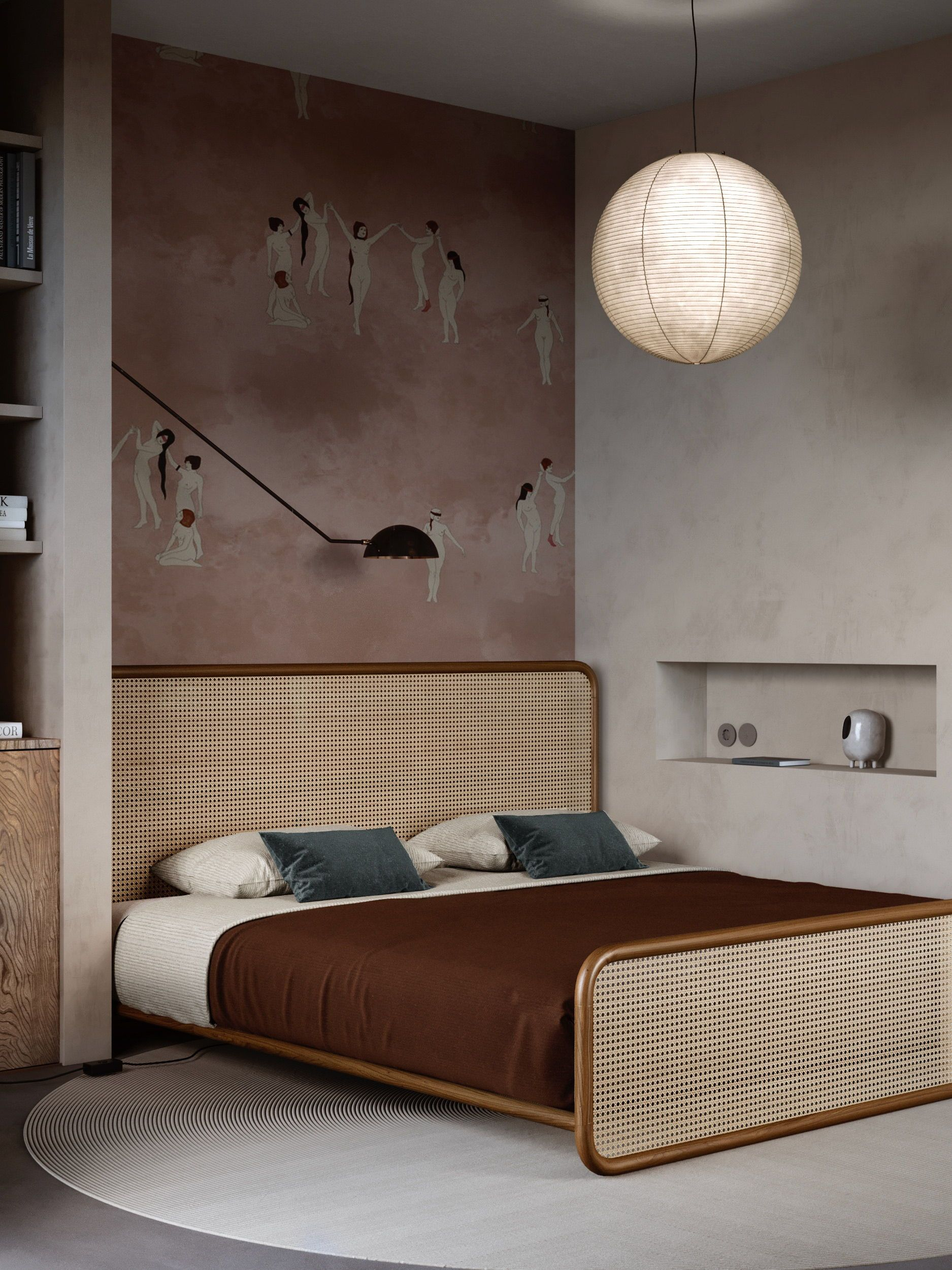 A Stunning Home Visualisation Art Deco Bed Beautiful Interiors