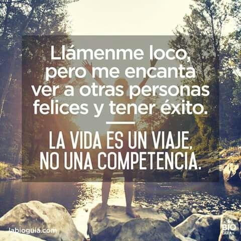 La vida es un viaje, no una competencia