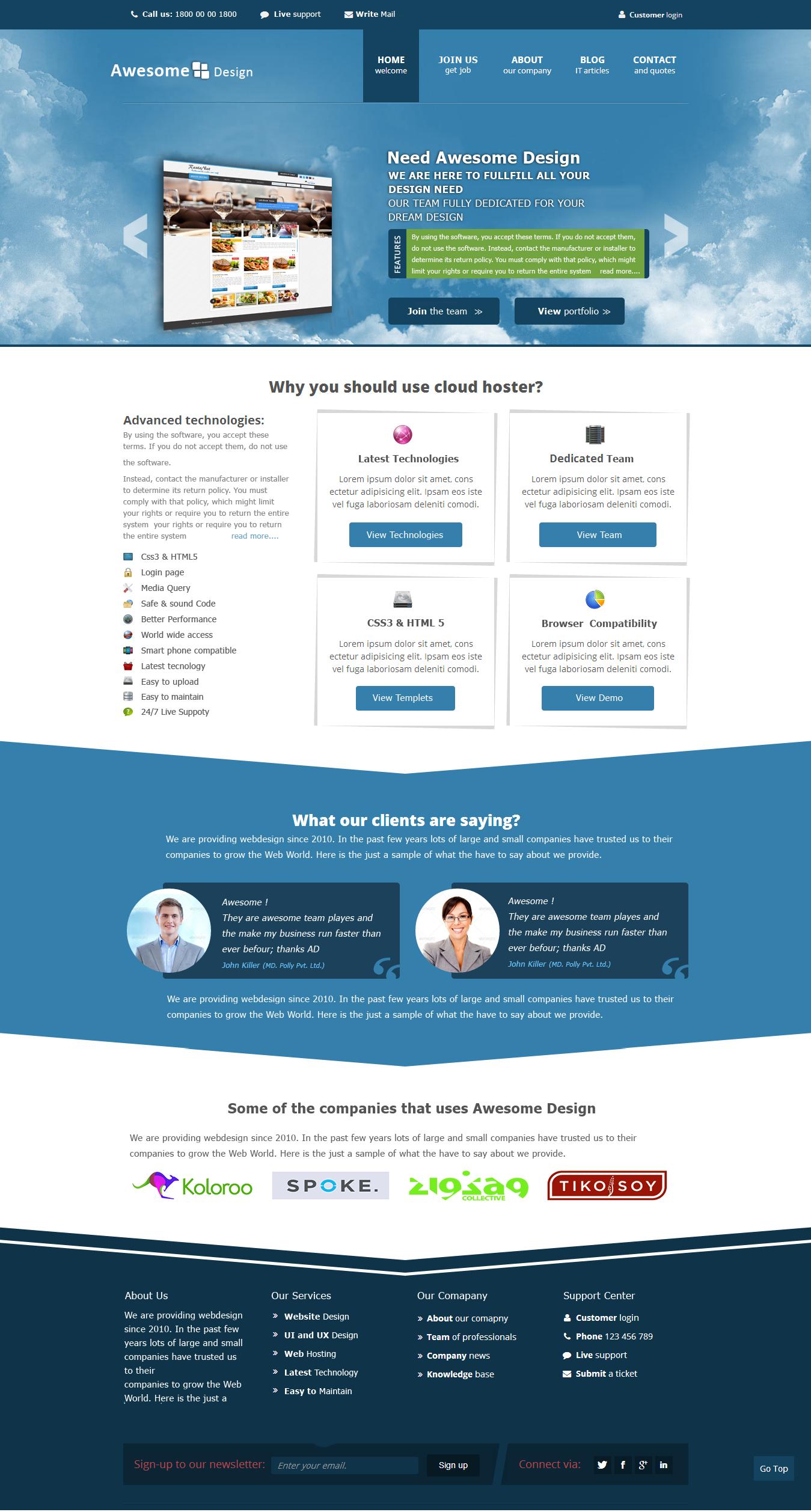 Responsive Webdesign Idea Responsive Website Templates