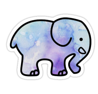 Blue and purple watercolor ivory ella sticker by sloanehaley