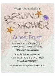 Beach Bridal Shower Invitations With