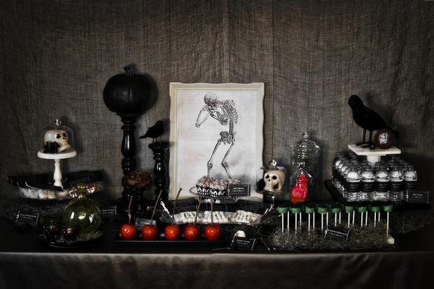Una mesa Halloween-gótico / A gothic Halloween sweet table