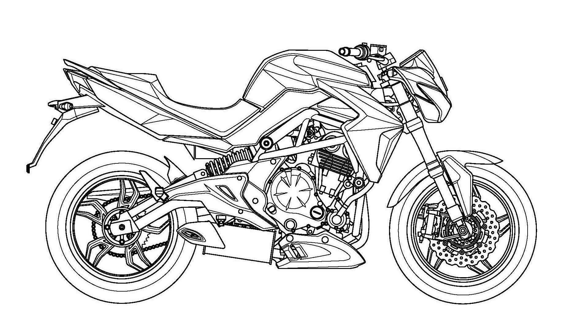 moto de trial de suzuki dibujo para colorear motos pinterest