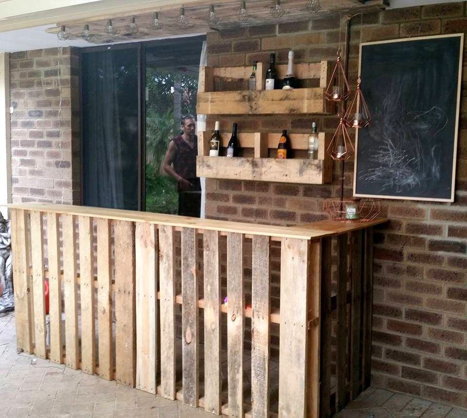 Pin by Amie Whetstone on Patio designs  Pallet bar