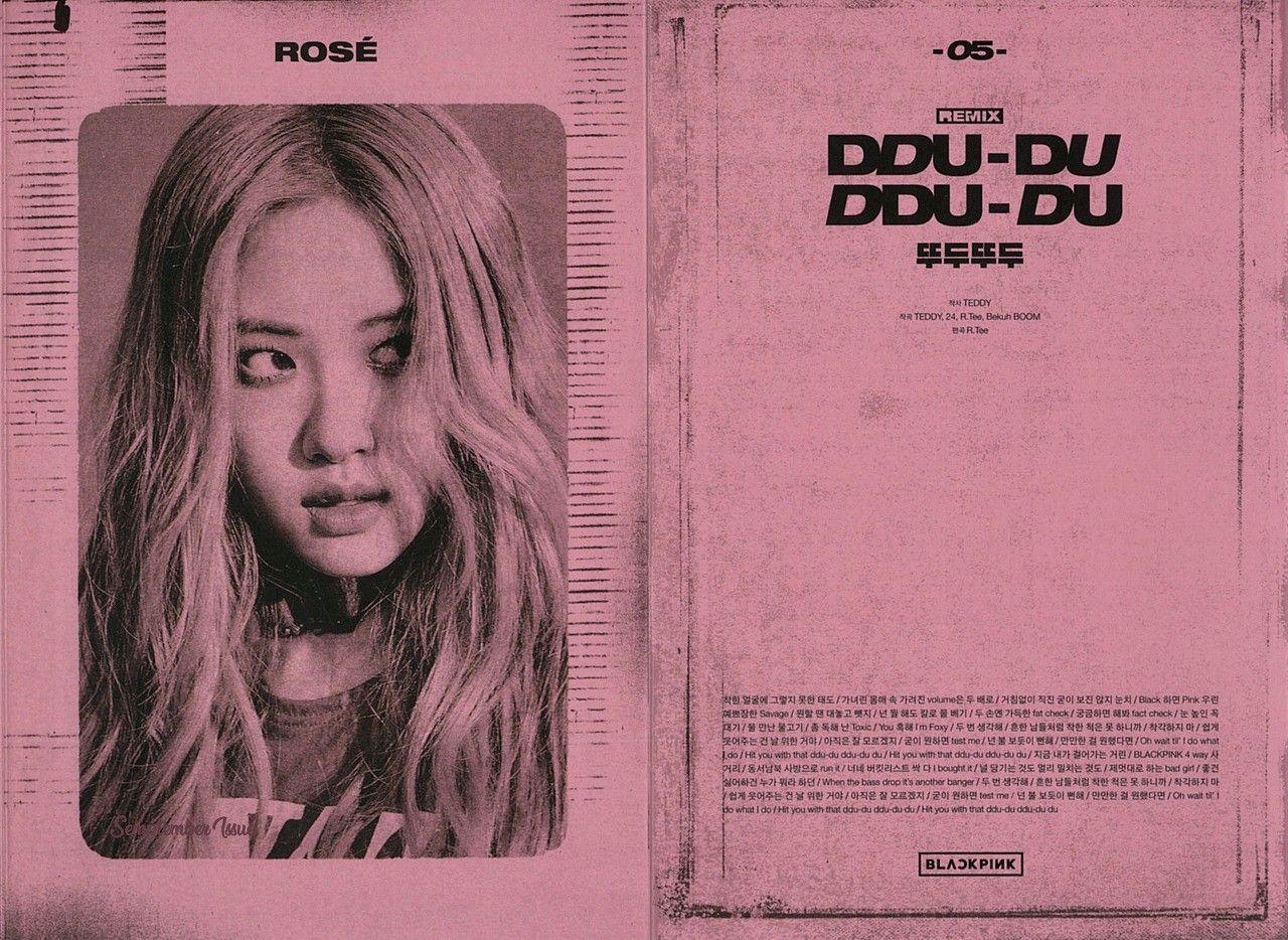 190423 Blackpink Kill This Love Ep Album Lyrics Book Pink