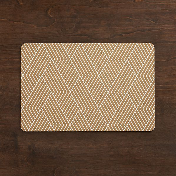 Etch Cork Placemat Crate And Barrel Placemats Crates