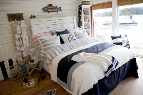 Maritimes Schlafzimmer ~ Seaside bedroom gemütliches schlafzimmer im maritimen stil