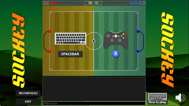 Sockey Html5 Soccer Multiplayer Online Local Game Games Soccer Private Games