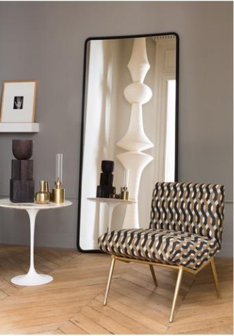 Un Grand Miroir Fenetre Pour Agrandir Le Salon Miroir Fenetre