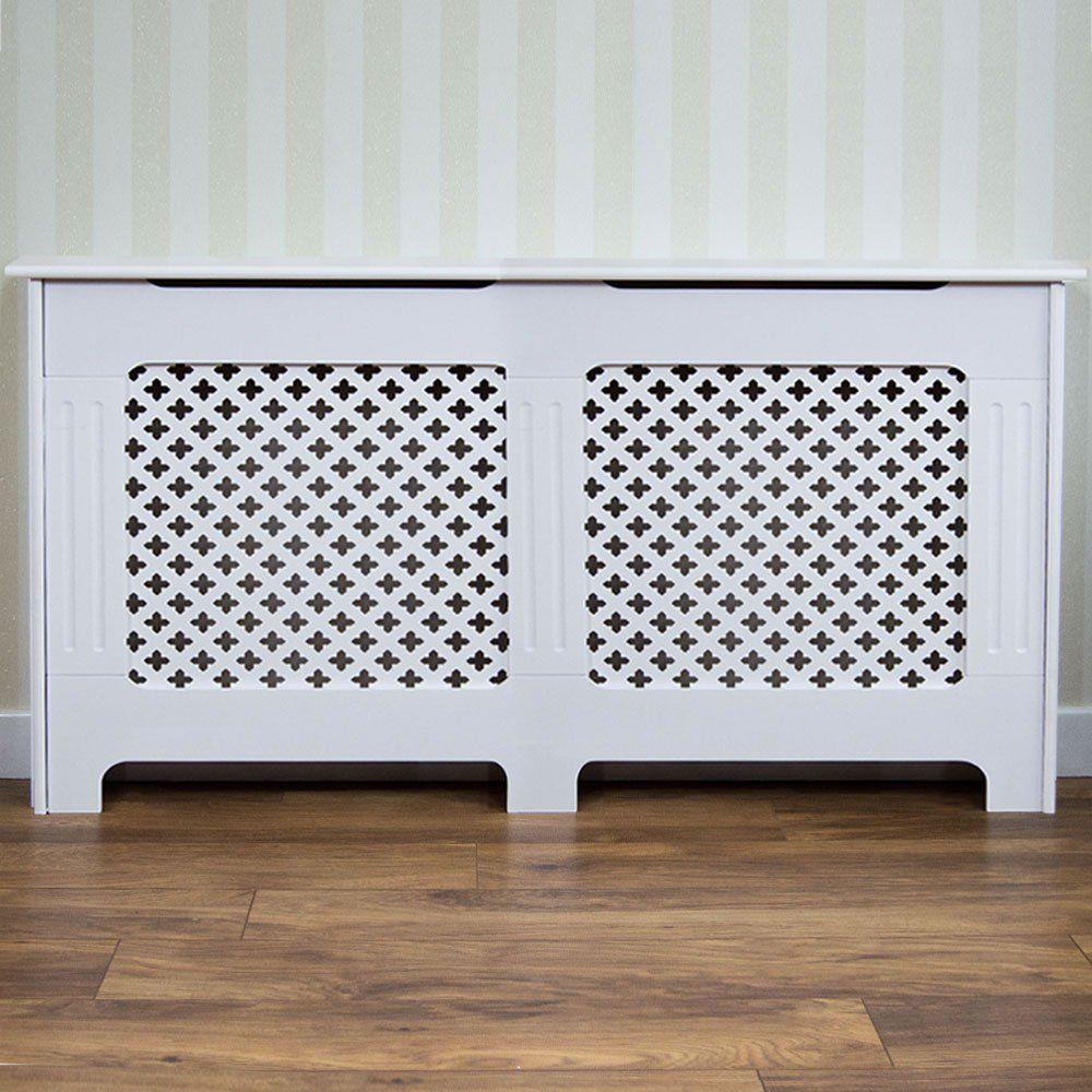 Vida Designs Oxford Medium White Radiator Cover In 2019 White
