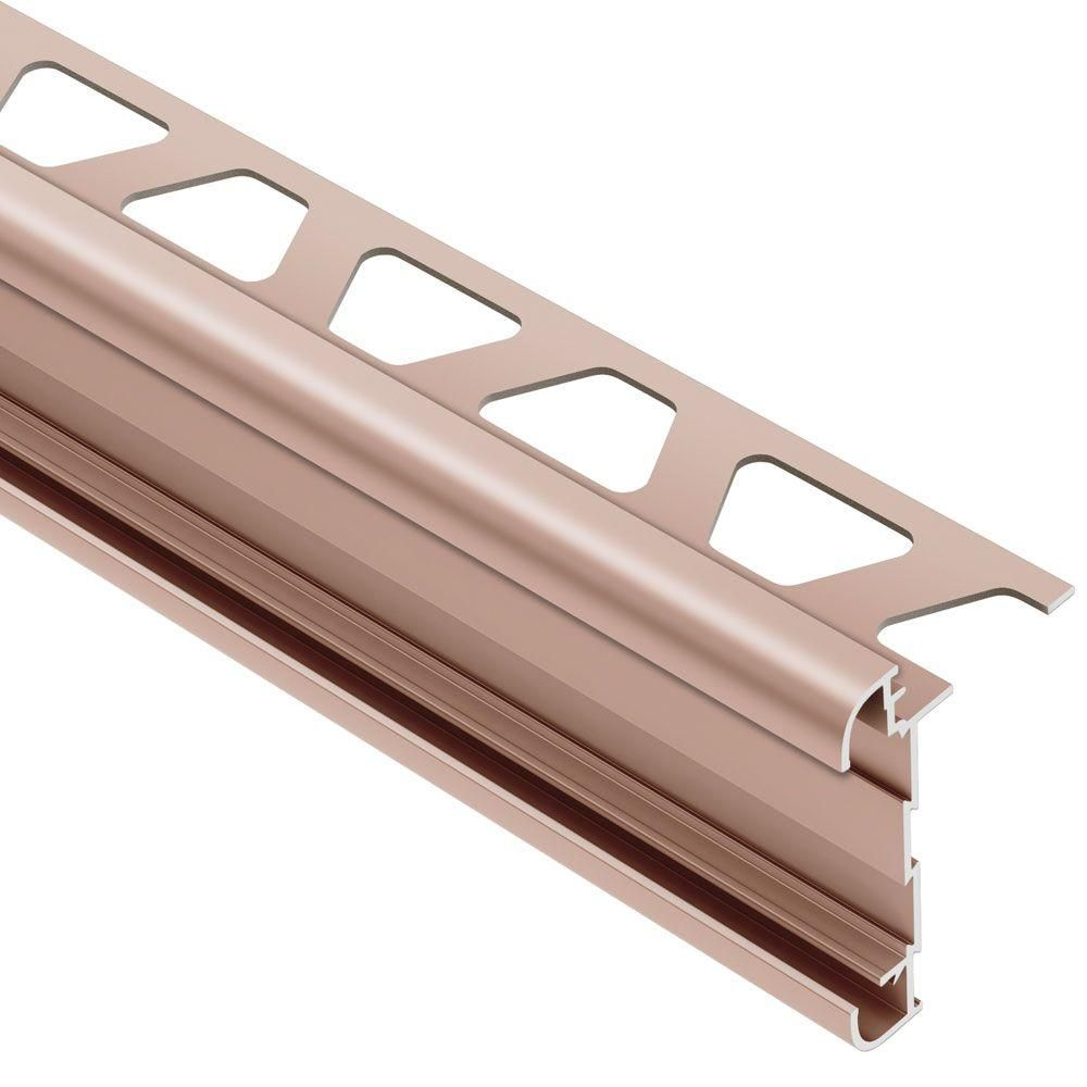Schluter Rondec Ct Satin Copper Anodized Aluminum 1 2 In X 8 Ft