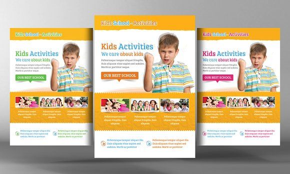 Kids School Education Flyer Template By Business Templates On