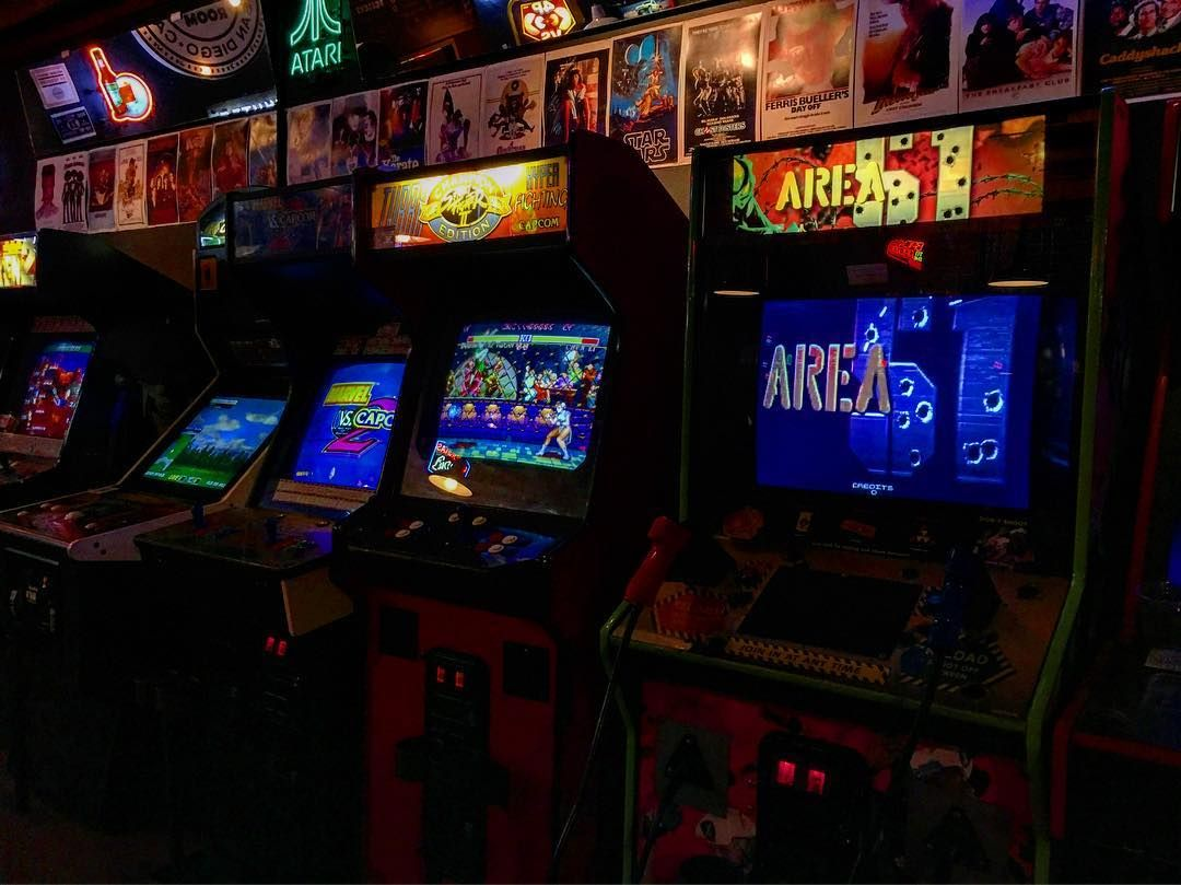 Beer and old school arcade games My