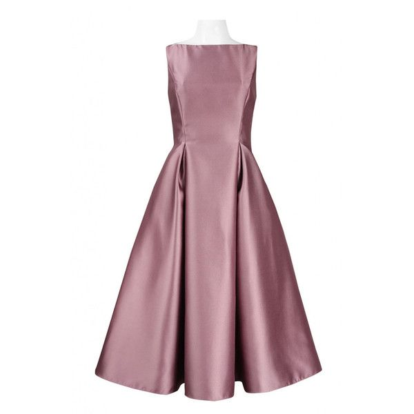 Frugalmughal Retro Chic Mauve Solid Dusty Rose Tea Length