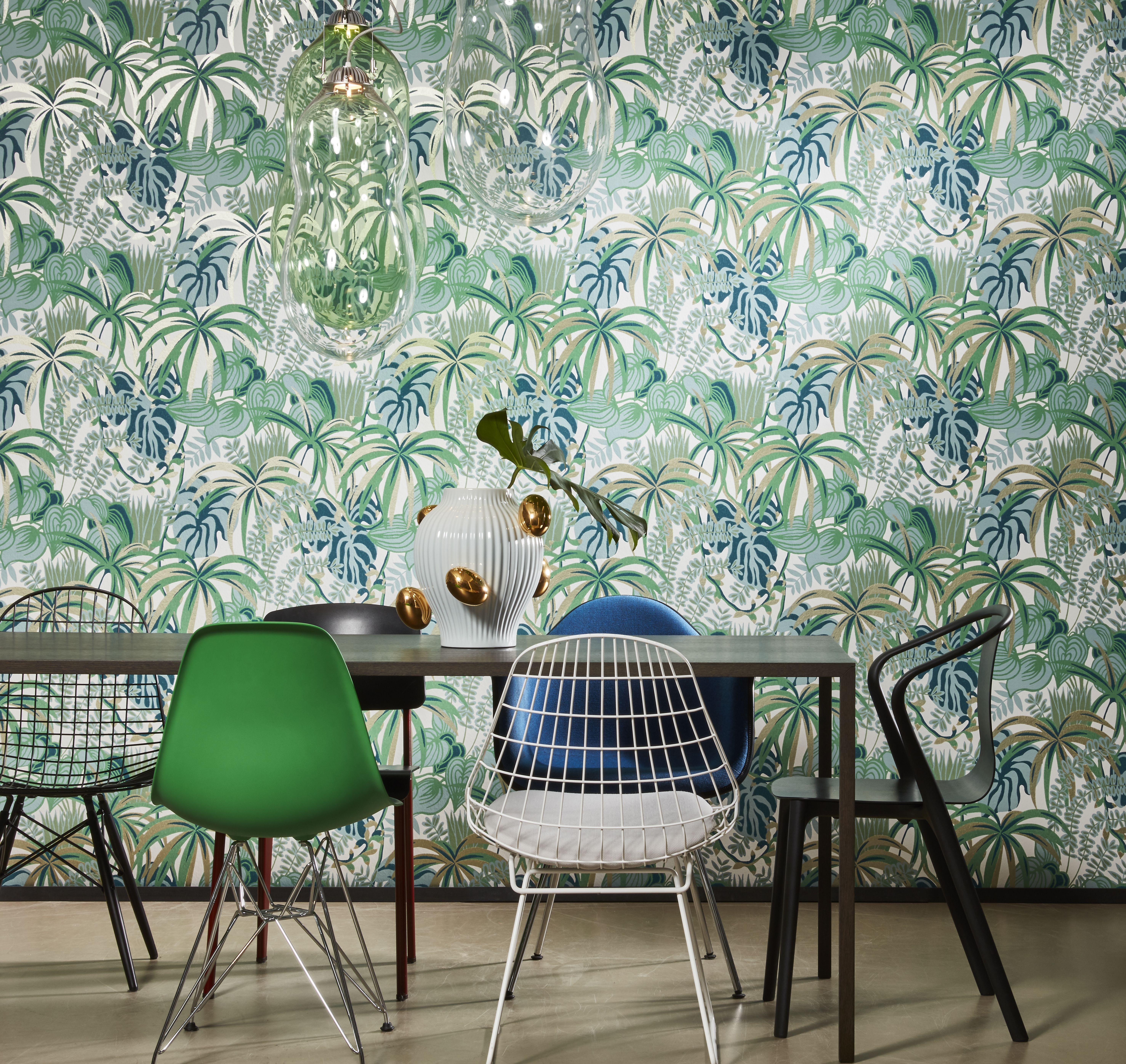 Greenery In 2020 Dining Room Wallpaper Decor Home Decor