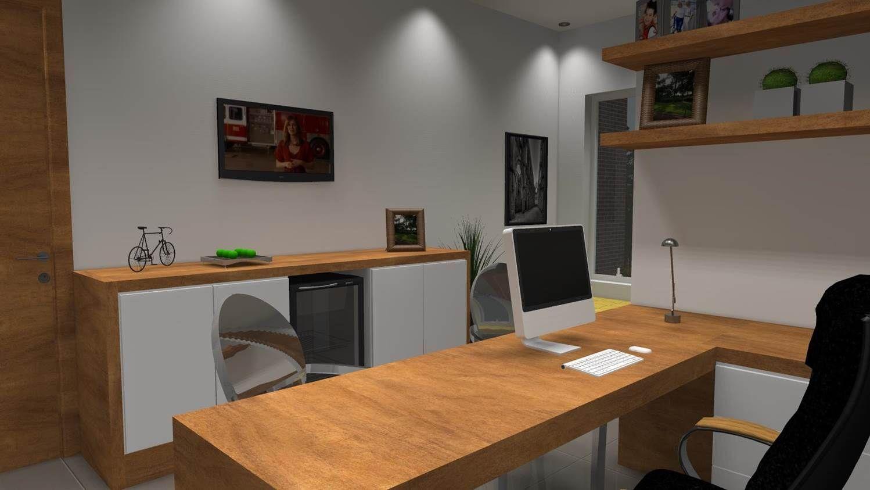 modelos de sala de estar com escritorio - Pesquisa Google