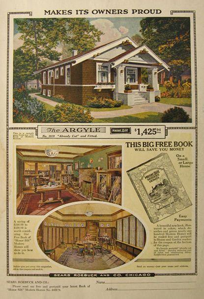 1918 Sears Honor Bilt Modern Homes Ad The Argyle