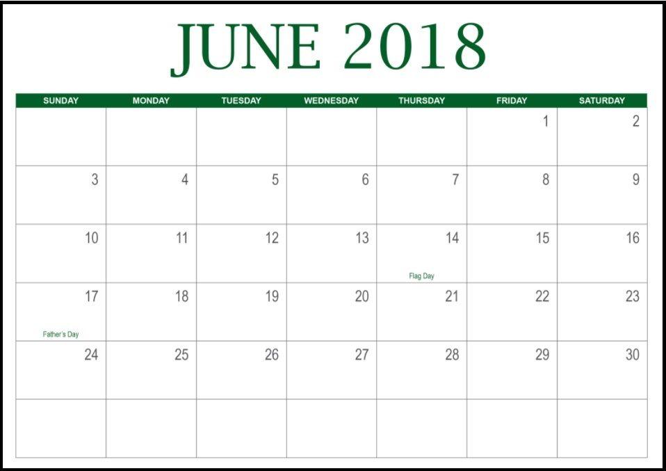 Httpzhonggdjw2018 June Calendarml 2018 June Calendar
