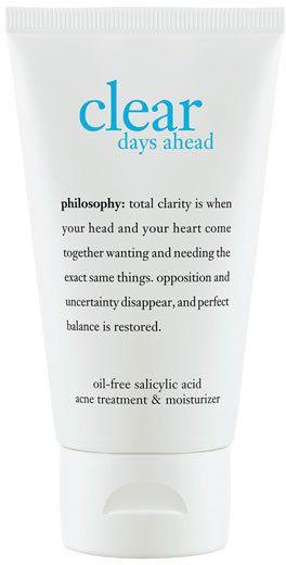 Philosophy 'Clear Days Ahead' Acne Treatment Gel Moisturizer